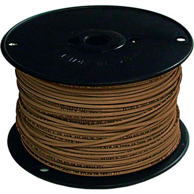 Southwire 27028001 TFFN 18 Gauge Building Wire, Stranded Type, Brown, 500 Ft - Pkg Qty 4