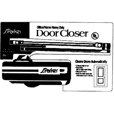 Residential Door Closer - Chocolate Clamshell Pack 140 lbs. Capacity - Pkg Qty 2