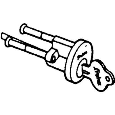 Solid Brass Rim Cylinder - Polished Brass Keyed Alike - Pkg Qty 20