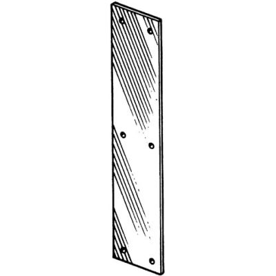 """Push Plate - Stainless Steel 3-1/2"""" X 15"""" - Pkg Qty 10"""