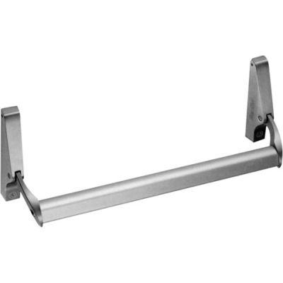 "Horizontal Rim Exit Device - 48"" in Aluminum Finish With Concealed Vertical Rods"