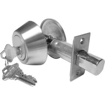 Hd Solid Bar Double Cylinder Deadbolt - Stainless Steel Sc-1 Keyway - Pkg Qty 3