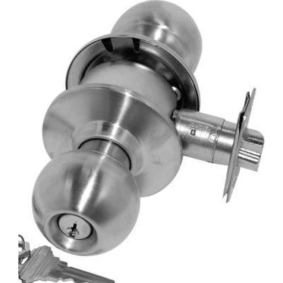 Cylindrical Entry Lock - Polished Brass Keyed To Bitting U - Pkg Qty 5