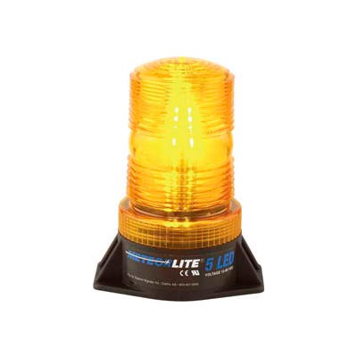 Meteorlite™ 5 High-Profile Strobe Light SY361005-A-LED - 12-80 Volts - Permanent Mount - Amber