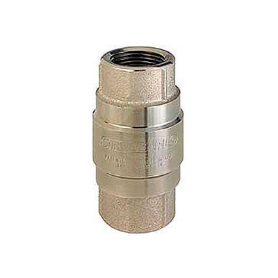 """3/4"""" FNPT Nickel-Plated Brass Check Valve with Stainless Steel Poppet"""