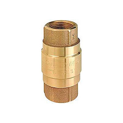 """1/2"""" FNPT Brass Check Valve with Buna-N Rubber Poppet"""