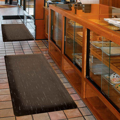 """NoTrax® Marble Sof-Tyle™ Anti Fatigue Mat 1/2"""" Thick 2' x 3' Black"""