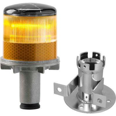 3337-00002 Lumières stroboscopiques à LED alimentées par l'énergie solaire, ampoule ambre