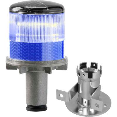 3337-00004 Lumières stroboscopiques à LED alimentées par l'énergie solaire, ampoule bleue