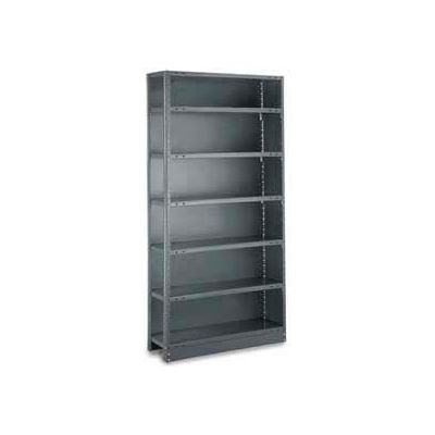 "Tri-Boro Klip-It Closed Add-On, CAK73-2442-6, 42""W x 24""D x 73""H, 6 Shelves, 20 Ga, Dark Gray"