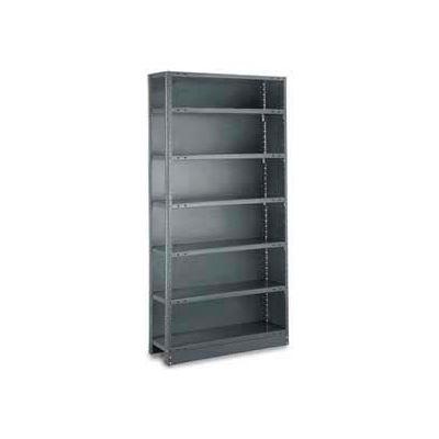 "Tri-Boro Klip-It Closed Add-On, CAK73-2442-6, 42""W x 24""D x 73""H, 6 Shelves, 20 Ga, Dark Gray"