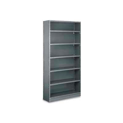 "Tri-Boro Klip-It Closed Starter, CSK73-1236-5, 36""W x 12""D x 73""H, 5 Shelves, 20 Ga, Dark Gray"