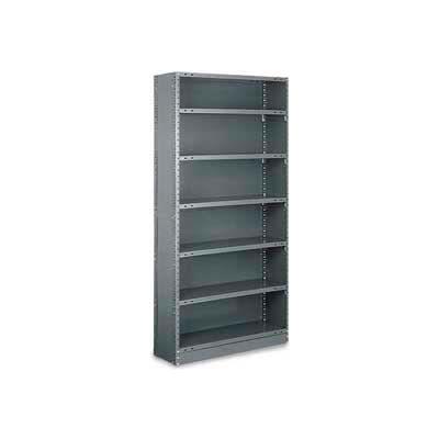 "Tri-Boro Klip-It Closed Starter, CSK73-1548-8X, 48""W x 15""D x 73""H, 8 Shelves, 18 Ga, Dark Gray"