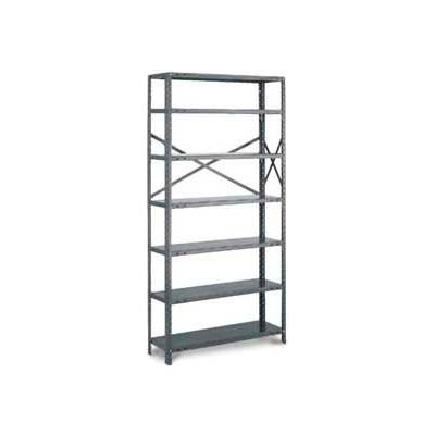 "Tri-Boro Klip-It Open Add-On, OAK73-1548-6X, 48""W x 15""D x 73""H, 6 Shelves, 18 Ga, Dark Gray"