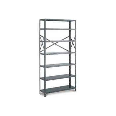 "Tri-Boro T-Bolt Open Starter, OST87-3648-7X, 48""W x 36""D x 87""H, 7 Shelves, 18 Ga., Dark Gray"