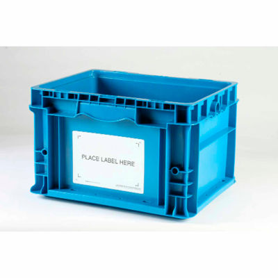 """Kennedy Group Economy Container Placard Label Holder ESTB2 4-1/2"""" x 6-1/2"""" White - Pkg Qty 100"""