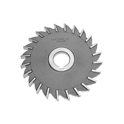 HSS Import Staggered Tooth Side Milling Cutter 5 DIA x 1 Face x 1-1//4 Hole x 22 Teeth