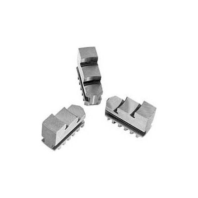 """Bison Hard Solid OD Jaws for 8"""" 3-Jaw Scroll Chuck, 3 Piece Set"""