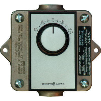 TPI Remote Mounted Thermostat EPETD8D Double Pole Double Throw Bi-Metal 120-277V 50-90°F