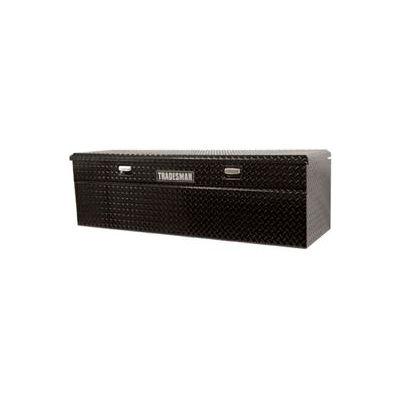 """60"""" Aluminum Full Size Slimline Flush Mount Truck Box - Black 79460SL"""