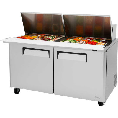 "M3 Series - Mega Top Sandwich/Salad Table 60-1/4""W - 2 Door"