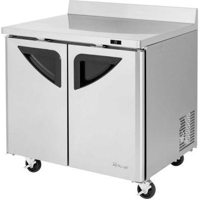 """Turbo Air TWR-36SD Super Deluxe Series - Worktop Refrigerator 36-1/3""""W - 2 Door"""