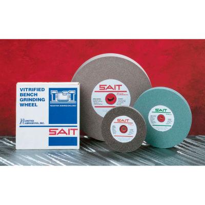 """Bench Wheel Vitrified 6"""" x 1/2"""" x 1"""" 60 Grit Aluminum Oxide - United Abrasives - Sait 28004"""