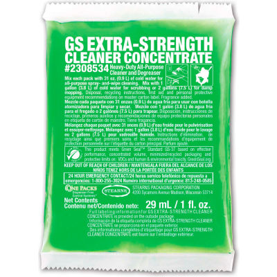 Stearn GS concentré nettoyant extra-fort-1 oz packs, 144 packs/case-2308534
