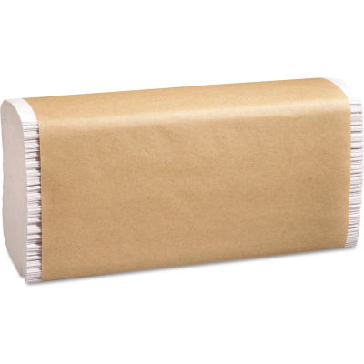 Marcal PRO® 100% Recycled Folded Paper Towels, 9-1/4x9 1/2, Multi-Fold, White, 16/Case -P200B