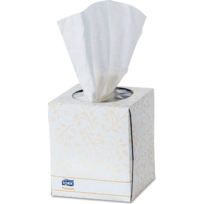 "Tork Premium Facial Tissue, 2-Ply, White, 8"" x 8"", 94 Sheets/Box, 36/Case - TF6910A"