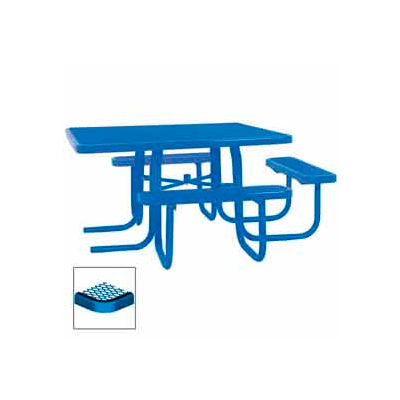 "3-Seat, 46"" ADA Square Table, Diamond 78""W x 72""D - Blue"