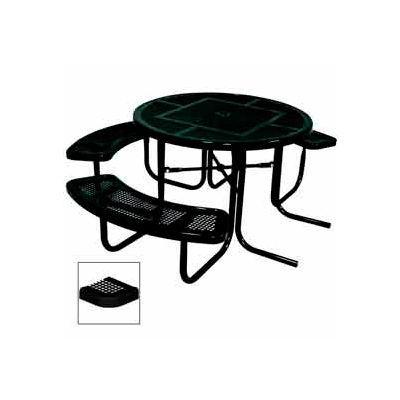 """3-Seat, 46"""" ADA Round Table, Perforated 80""""W x 63""""D - Black"""