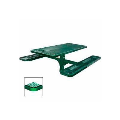 "6' Single Pedestal Table, Inground, Diamond 72""W x 70""D - Green"