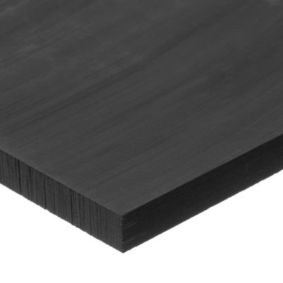 "Black UHMW Polyethylene Plastic Sheet - 3/8"" Thick x 16"" Wide x 48"" Long"