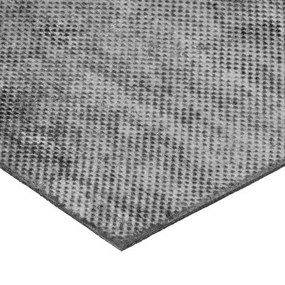 """Fabric-Reinforced High Strength Buna-N Rubber Roll No Adhesive - 60A - 1/8"""" Thick x 36"""" W x 4 ft. L"""