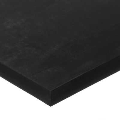 "Ultra Strength Buna-N Rubber Sheet with Acrylic Adhesive - 70A - 1/2"" Thick x 12"" Wide x 12"" Long"