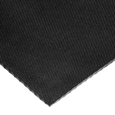 "Textured Neoprene Rubber Sheet No Adhesive - 40A - 1/4"" Thick x 12"" Wide x 12"" Long"
