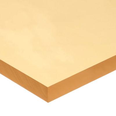 "Polyurethane Sheet No Adhesive - 60A - 1/2"" Thick x 6"" Wide x 6"" Long"