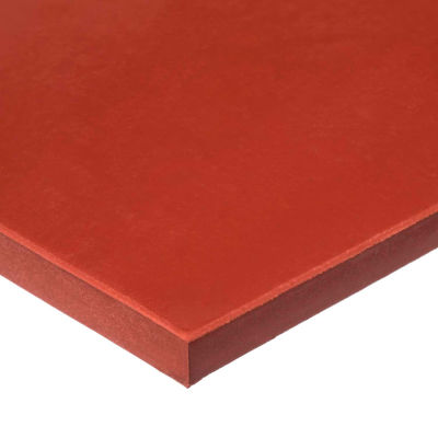 """Red SBR Rubber Sheet with Acrylic Adhesive - 60A - 1/8"""" Thick x 36"""" Wide x 36"""" Long"""