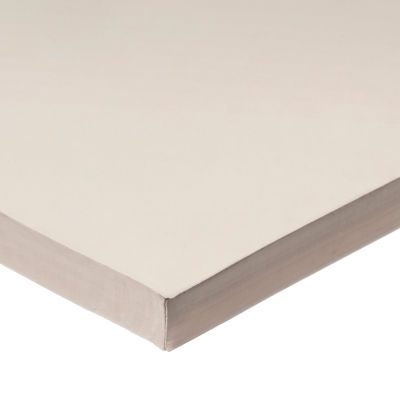 """White FDA Silicone Rubber Sheet with High Temp Adhesive - 60A - 3/8"""" Thick x 12"""" Wide x 12"""" Long"""
