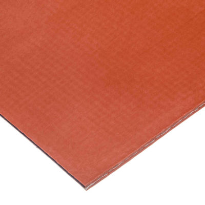 """Fiberglass Fabric-Reinforced Silicone Rubber Roll W/High Temp Adhesive, 70A, 1/8"""" Thick x 36""""W x 5'L"""