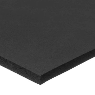 """Black Silicone Foam Roll with High Temp Adhesive - 1/2"""" Thick x 36"""" Wide x 6 Ft. Long"""