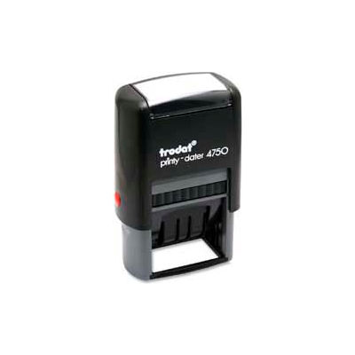 """U.S. Stamp & Sign Trodat® Self-inking Message/Date Stamp, RECEIVED, 1"""" x 1-5/8"""", Blue/Red"""