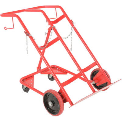Economy 4-Wheel Double Cylinder Hand Truck CYHT-350 350 Lb. Capacity