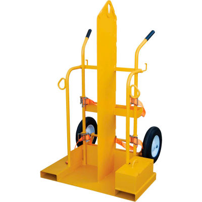 Fire Protection Welding Cylinder Cart CYL-2-FP Pneumatic Wheels 28 x 36-1/4 x 69-1/8