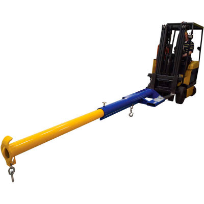 Forklift Economaster Telescoping Jib Boom Crane, 6000 Lbs. Capacity