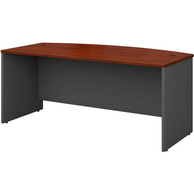 """Bush Furniture Wood Desk Shell with Bow Front - 72"""" - Hansen Cherry - Series C"""