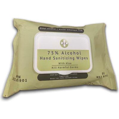 EF Sanitizer Wipes - 80 Wipes/Pack, 24 Packs/Case - Pkg Qty 24