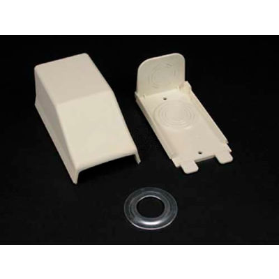 """Wiremold 2310a Entrance End Fitting, Ivory, 4-1/2""""L"""