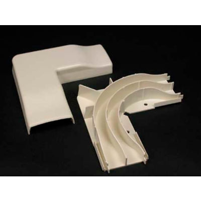 """Wiremold 2311DFO-WH Divided FiberReady Flat Elbow, White, 5-1/2""""L"""